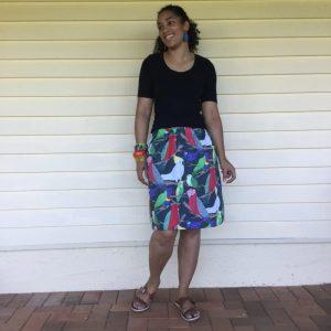 Aussie Birds Ladies skirt front view