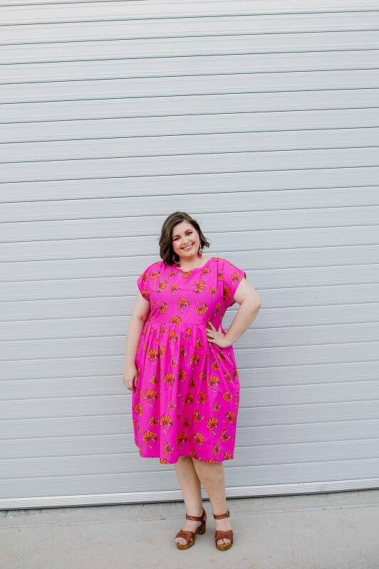 Prawny Prawns Ladies Babydoll Dress Pink 6