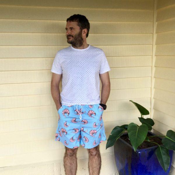 Blue Prawny Prawn Men's Shorts