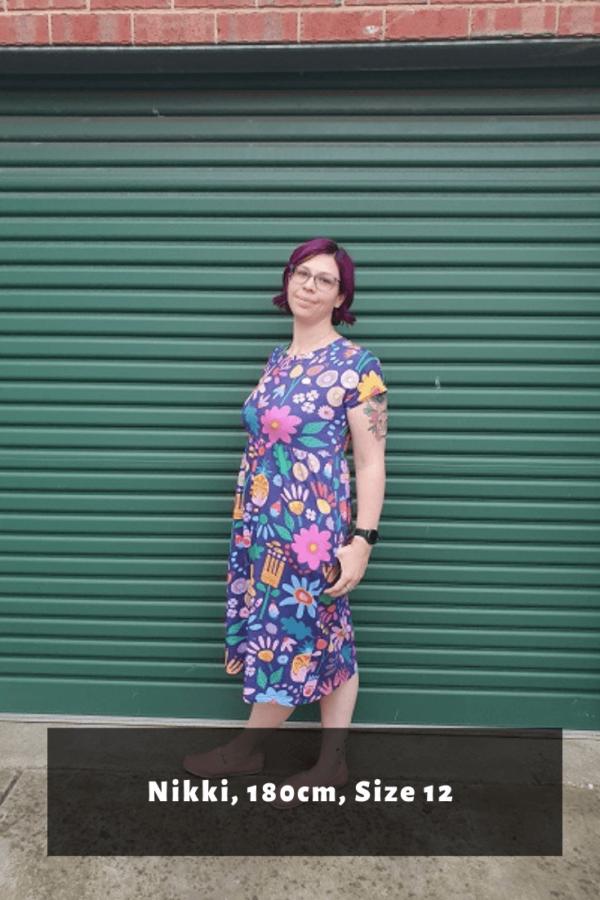Nikki-benjamin-jersey-sunshine-garden-babydoll-dress