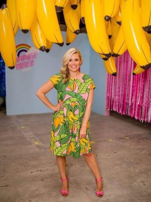 Bananas for Mangoes Ladies Babydoll Dress in pink