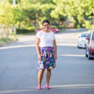 Sunshine Garden Ladies Skirt