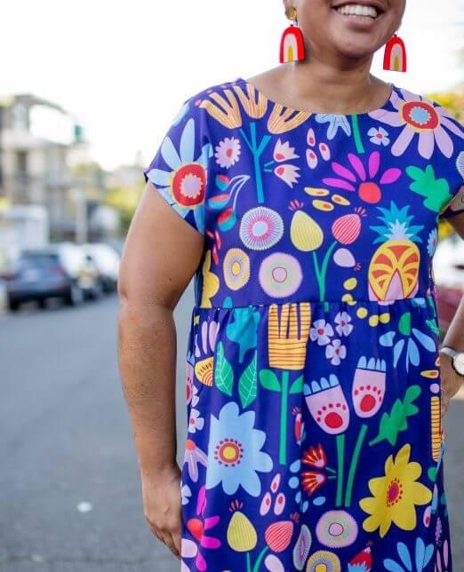 Sunshine Garden Ladies Babydoll Dress