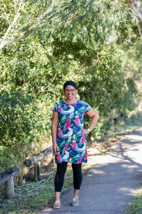 Aussie birds ladies jersey dress