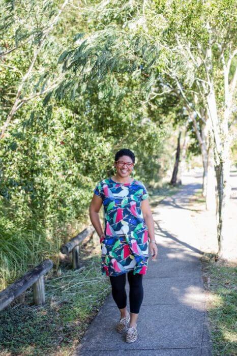 Aussie birds jersey dress