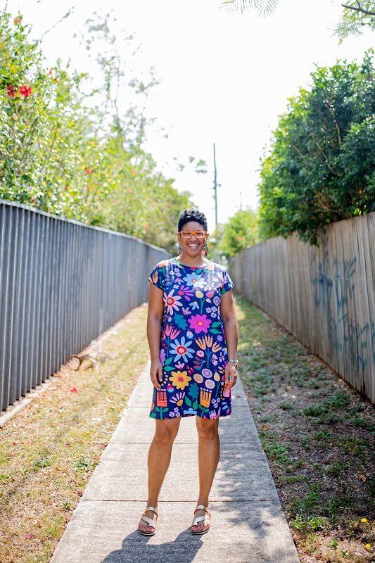 Sunshine Garden Ladies Jersey Regular Dress