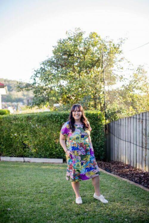 this is australia jersey babydoll pocket dress