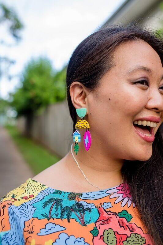 This is Australia dangle earrings