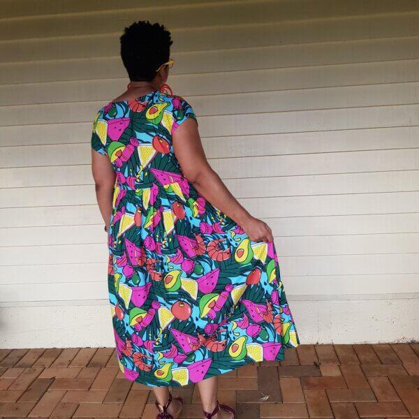 Deck-The-Prawns-Babydoll-Maxi-Dress