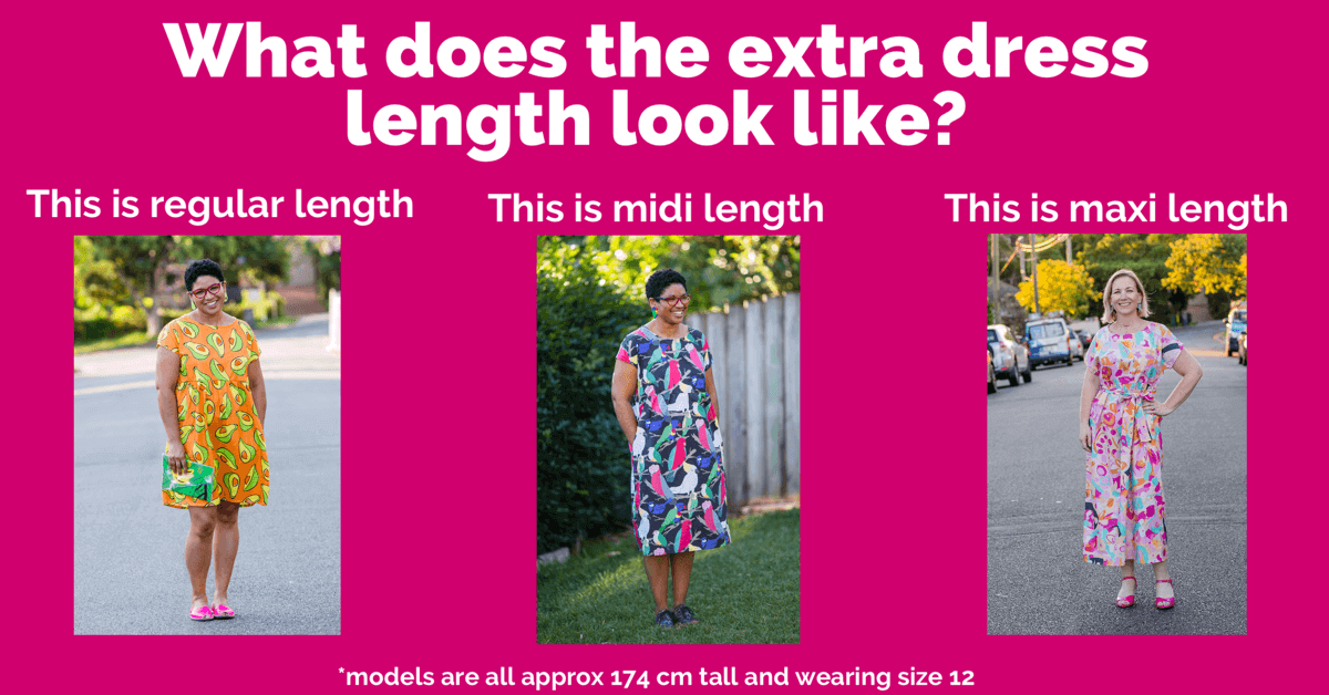 different dress length options for kablooie