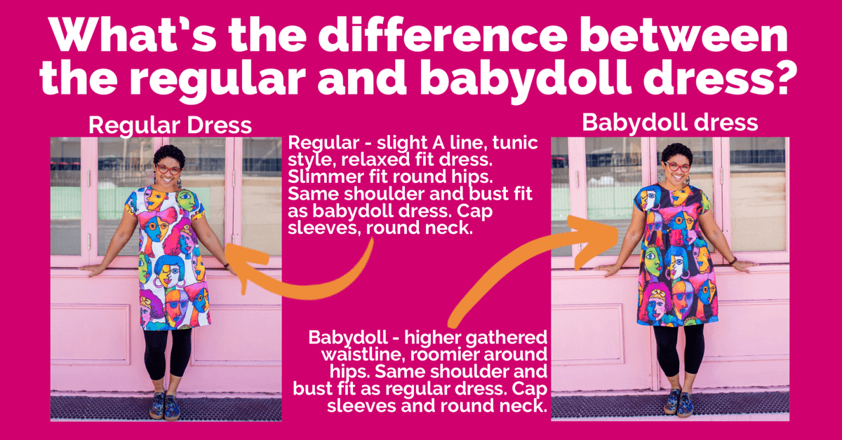 regular and babydoll dress differences for kablooie