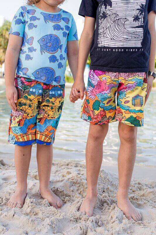 This is Australia kids board shorts