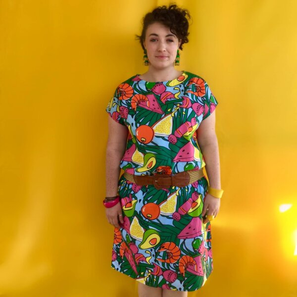 deck the prawns ladies skirt and top