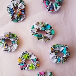scrunchies mix tape fabric