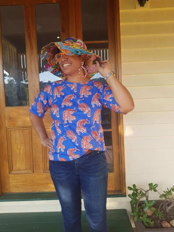 This is Australia Hat and Hello Tiger Ladies Top