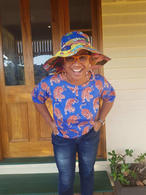 This is Australia happy Hat and Hello Tiger Ladies Top