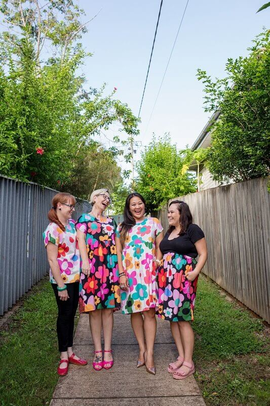 Retro-Bloom-Ladies-Regular-Dress
