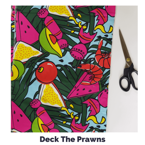 Deck The Prawns Fabric
