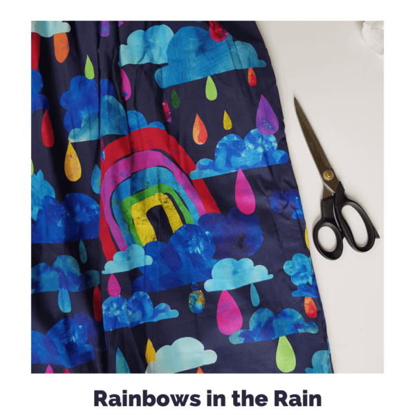 Rainbows In The Rain Fabric