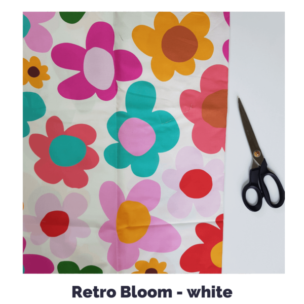 Retro Bloom in white fabric