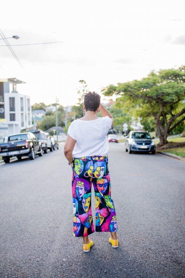 Faces Black Ladies Cotton Pants