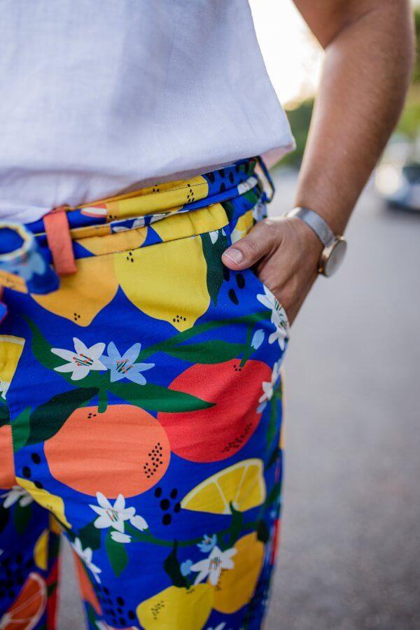Simply The Zest Ladies Cotton Pants close up