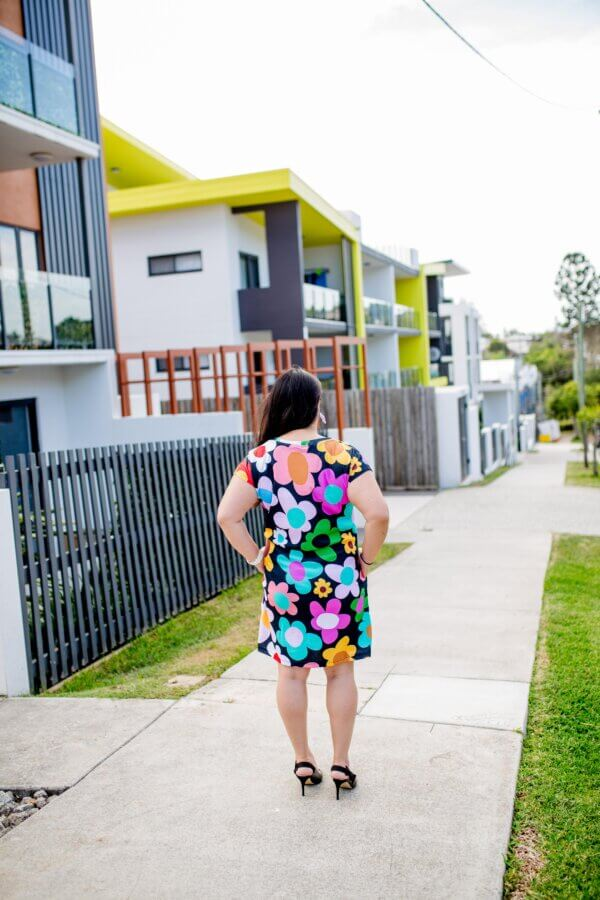 retro-bloom Jersey regular dress