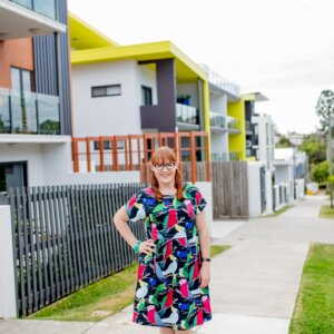 Aussie-Birds-Print-Jersey-babydoll-breastfeeding-dress