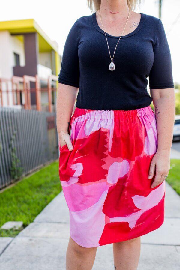 Ladies Skirt close