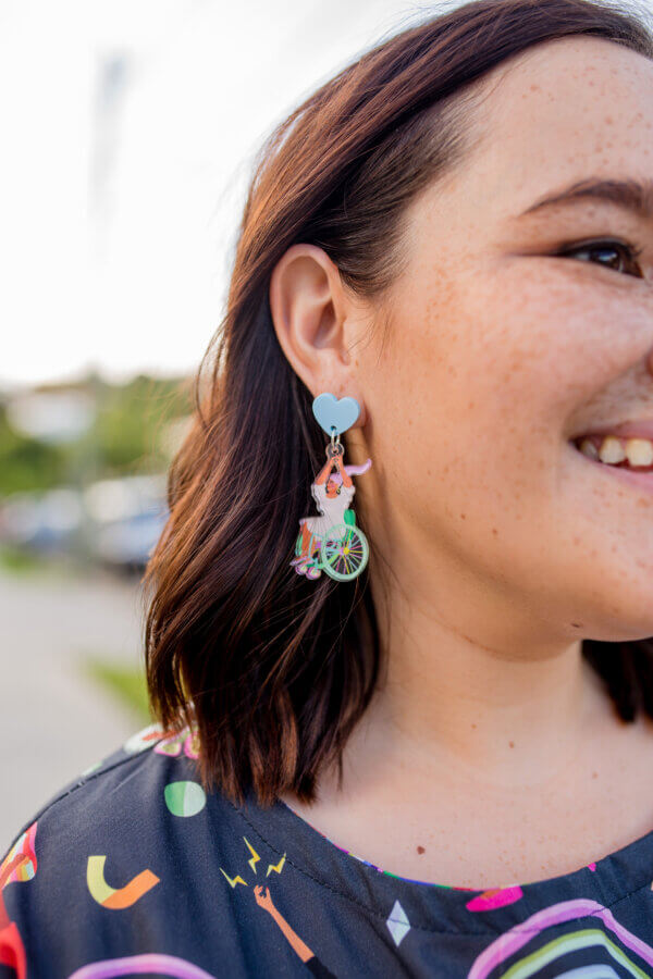 The Just Be YOU! Wheelchair Dangle Earrings - limited edition!
