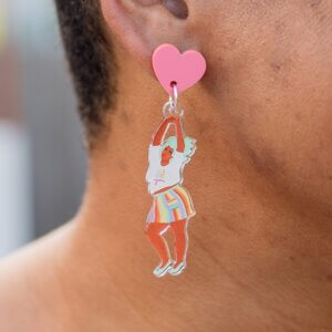 Just Be YOU! Dancing Dangle Earrings