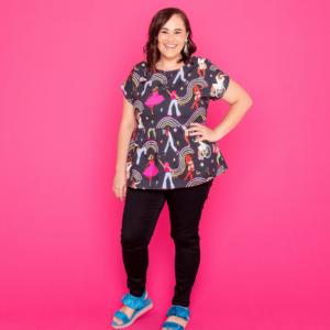 The Just Be YOU! Ladies Australian Designer Babydoll Top