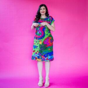 Brisvegas!! Jersey Breastfeeding Regular Dress