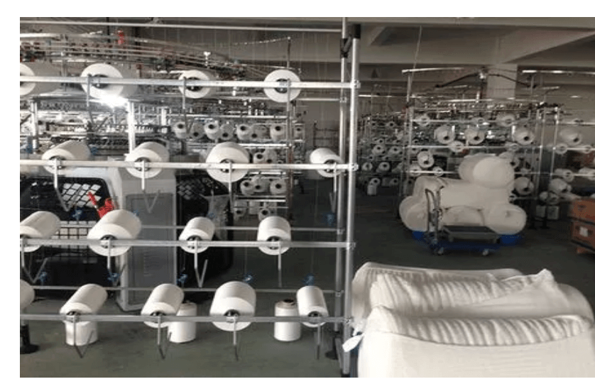 woven knitted fabric production