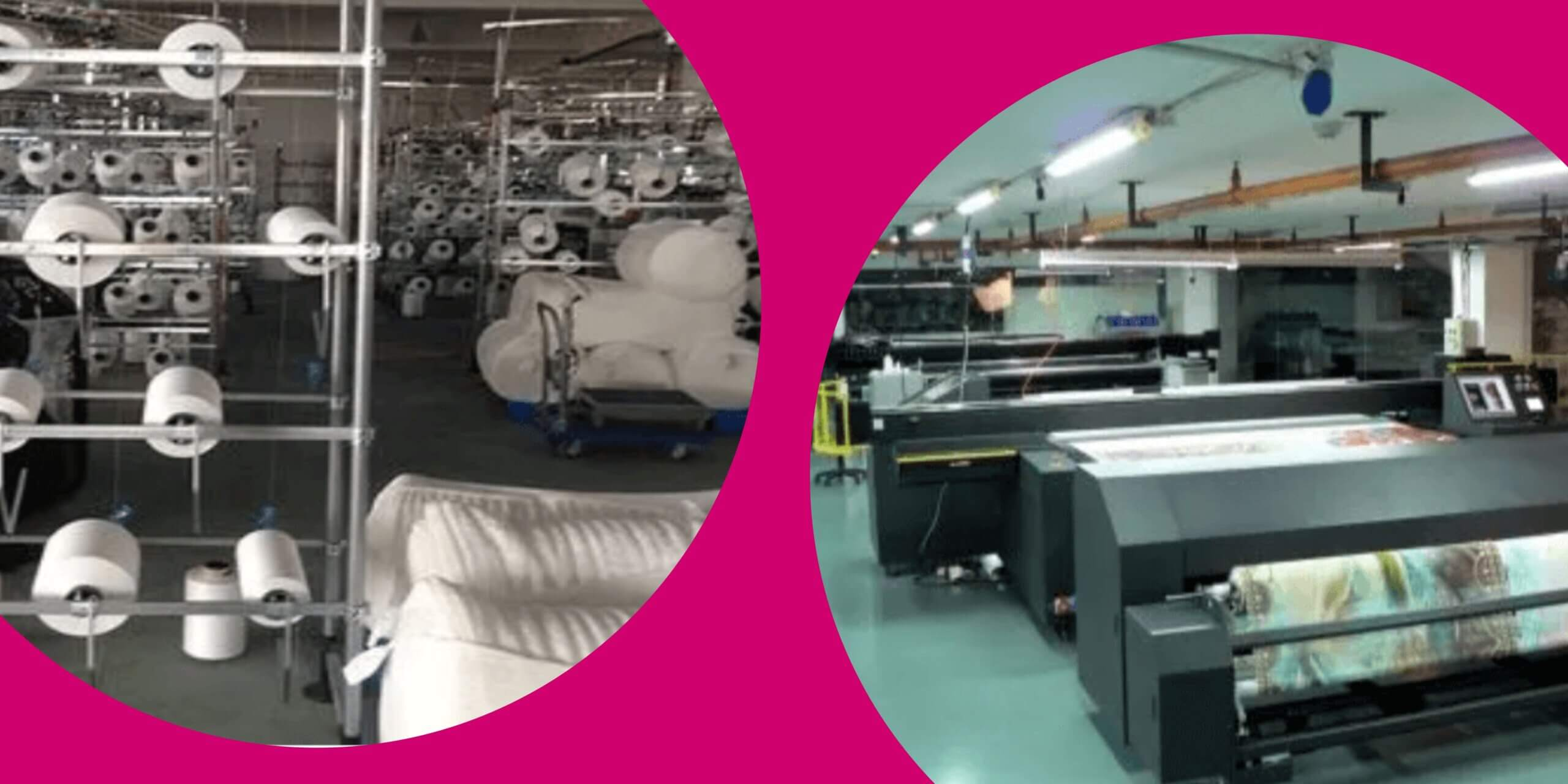pictures of facilities where kablooie fabric is woven and printed