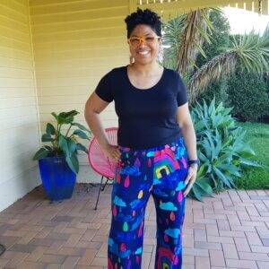 Rainbows In The Rain Jersey Cotton Full Length Pants